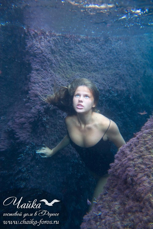 Фотосессия под водой Крым Форос