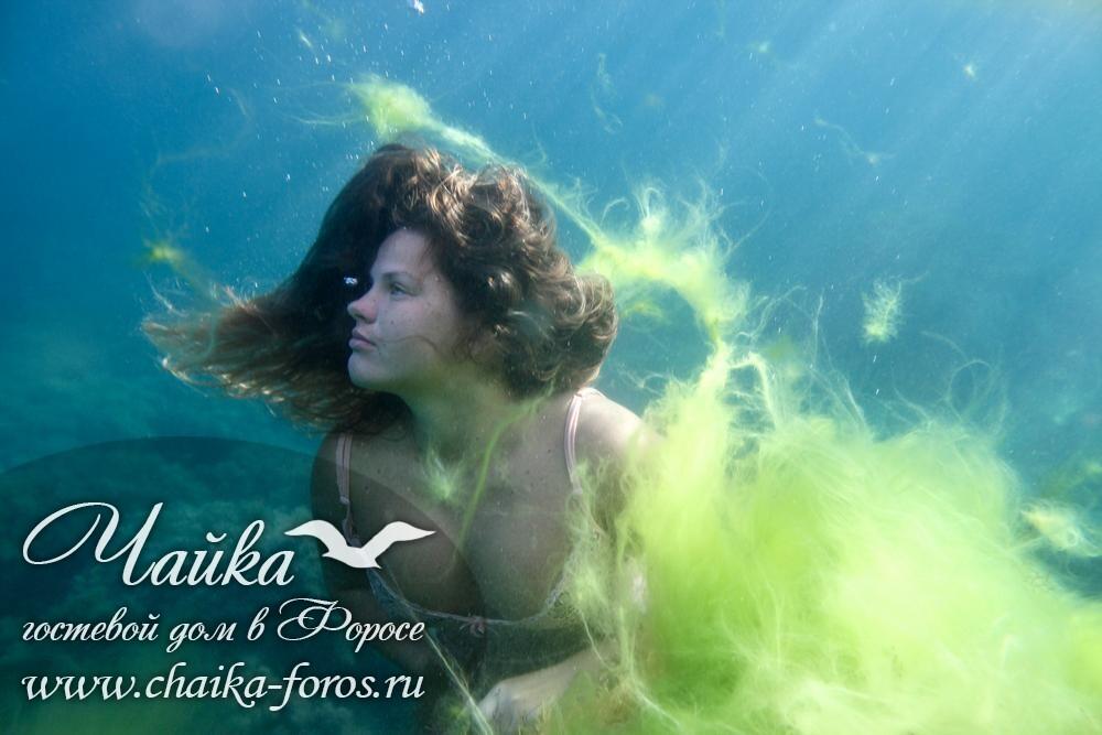 Человек под водой фото Форос Крым
