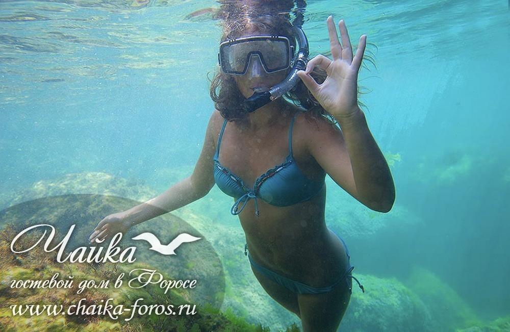 Фотосессия девушка в воде Форос Крым